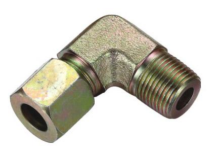 卡套式锥螺纹端直角管接头