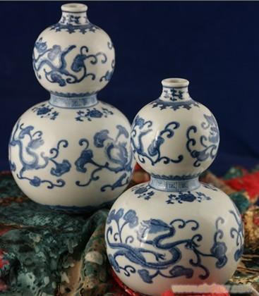 手繪50件青花葫蘆瓶