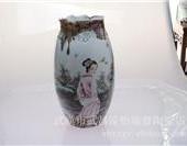 150件清韻美女瓶釉裏紅鬥彩 武漢景德鎮陶瓷
