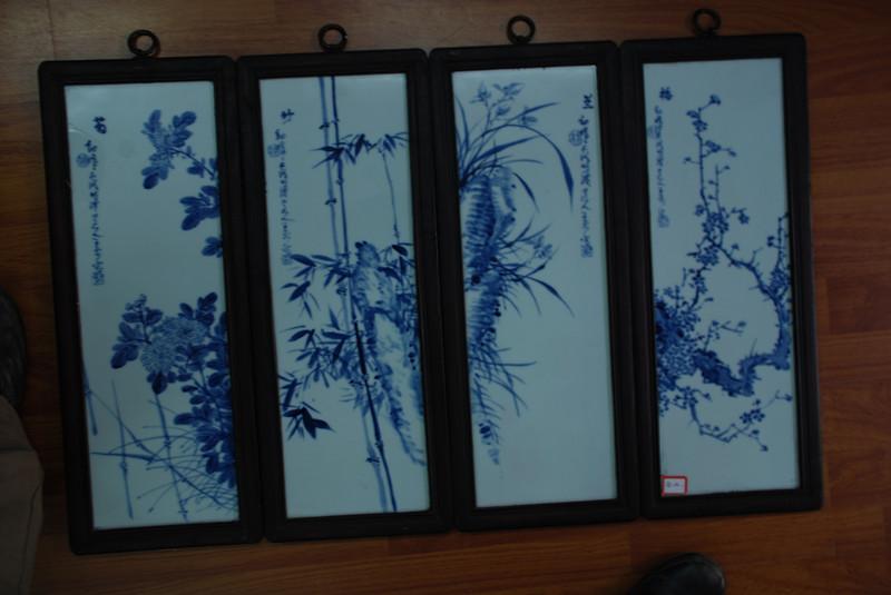梅蘭竹菊 高仿 武漢景德鎮陶瓷工藝品