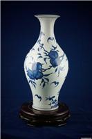 手繪150件高仿青花壽桃橄欖瓶