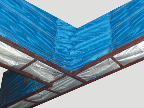 双轨双帘折叠式卷帘门