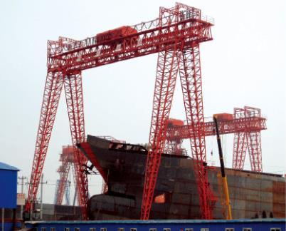 1600吨造船门机