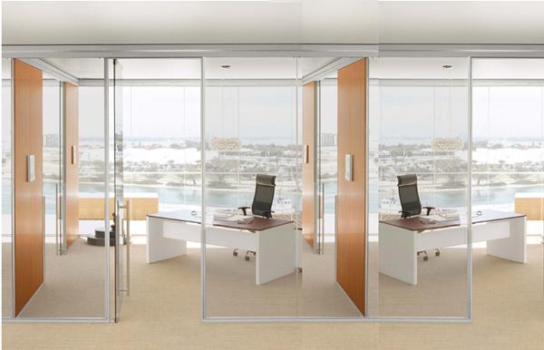 透明玻璃门