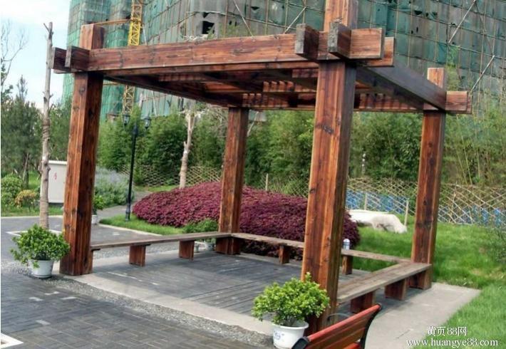 贵阳炭化木花架