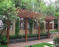 贵州炭化木花架