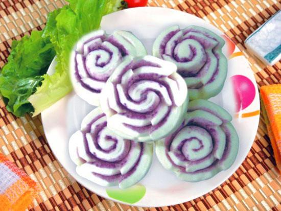 紫薯荷花卷