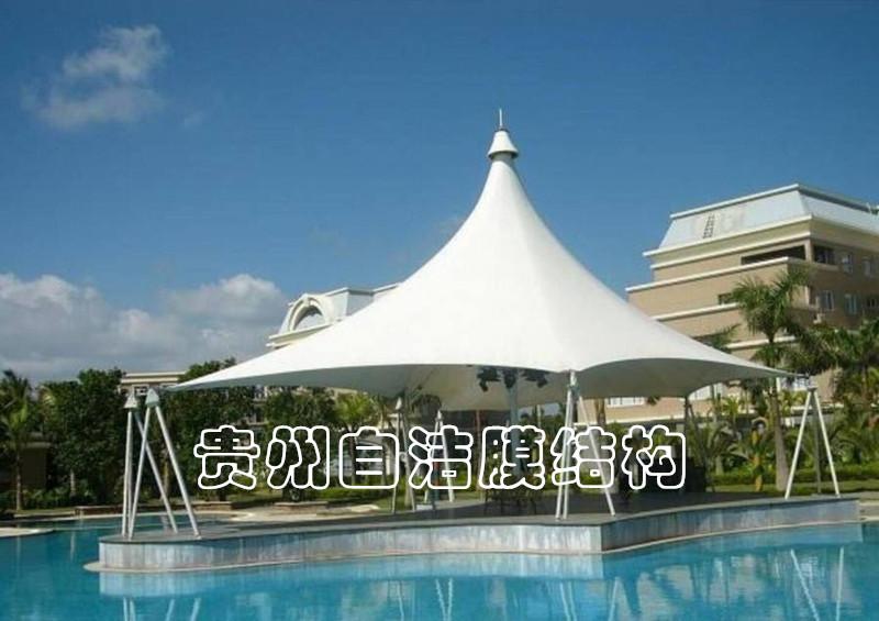 游泳池膜结构遮阳棚