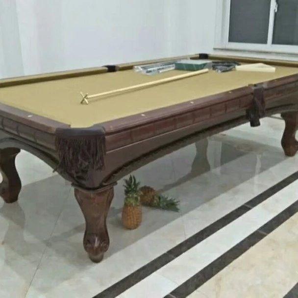 别墅实木雕刻台球桌