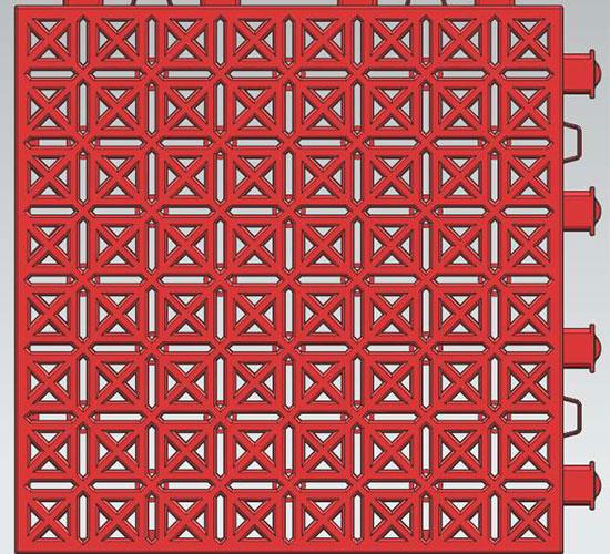 弹力方纹悬浮地板