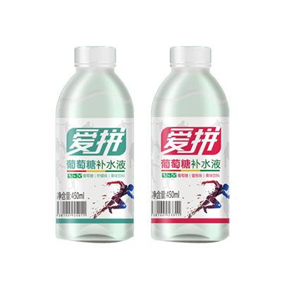 爱拼葡萄糖补水液(柠檬味,蜜桃味)450ML