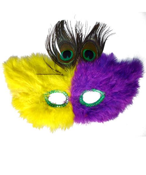 孔雀羽毛面具