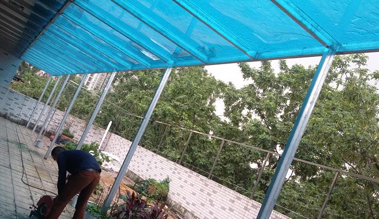 家用过道雨棚案例