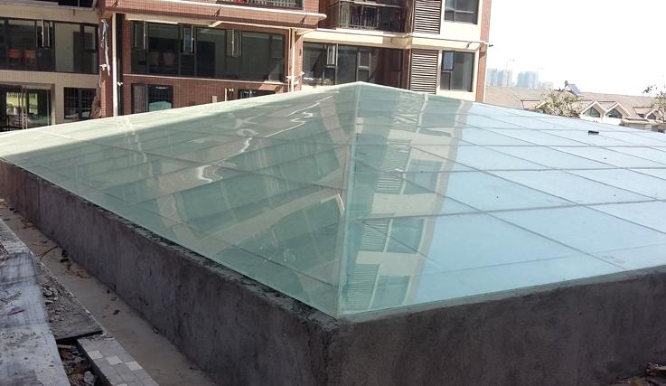游泳池雨棚制作案例