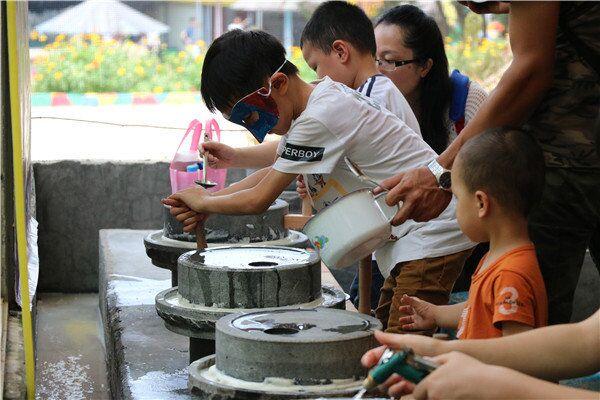 东莞亲子DIY手工-磨豆浆