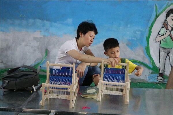 深圳亲子DIY-织布机