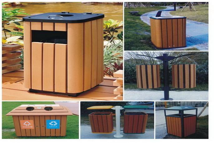 塑木相关产品之垃圾桶