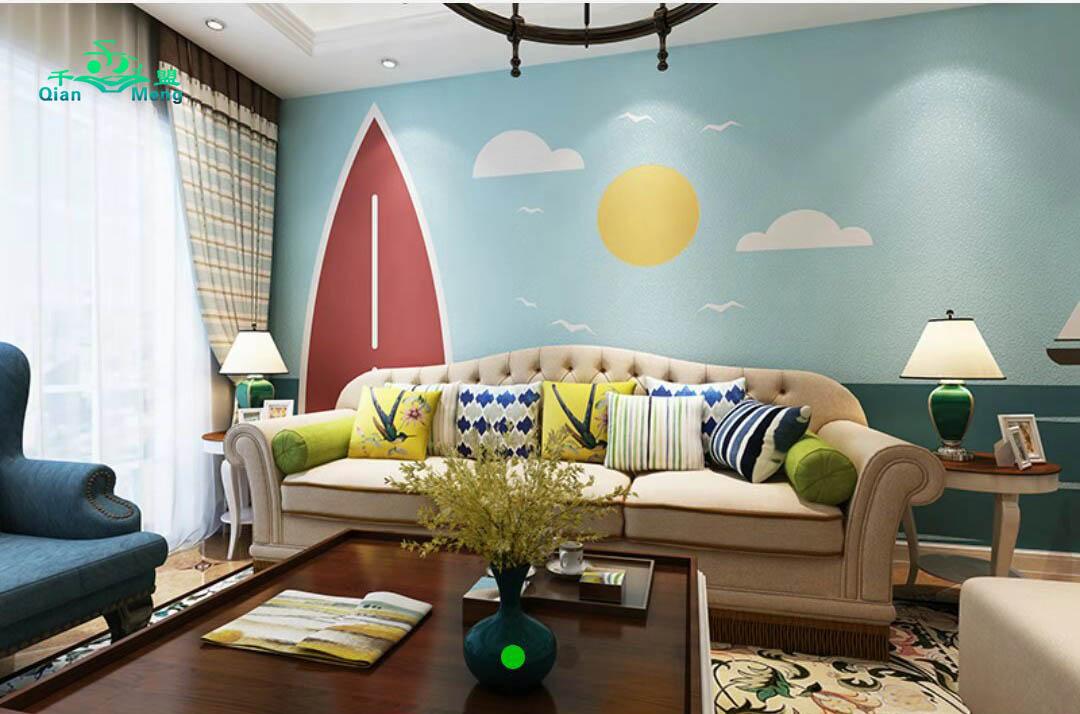 地中海风格、客厅、地中海-115