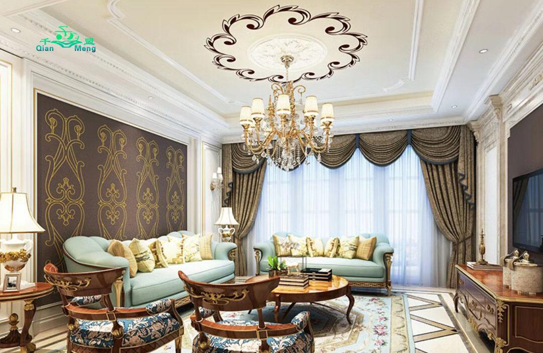 欧式风格、客厅、欧式-148