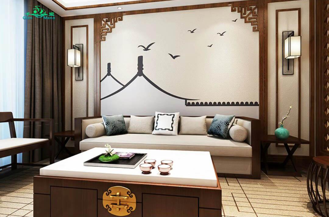中式风格、客厅、中式-160
