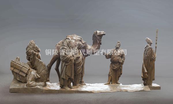 《粟特商舟》铜雕塑