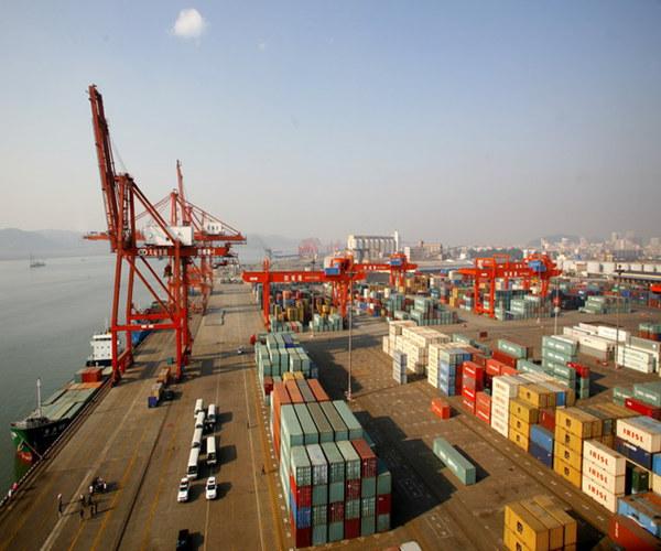 荆州码头货物装卸