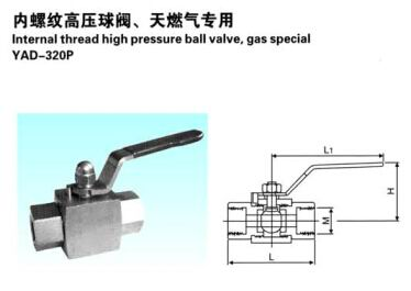 内螺纹高压球阀(天然气专用)