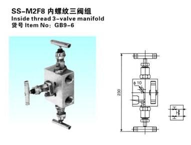 SS-M2F8内螺纹三阀组