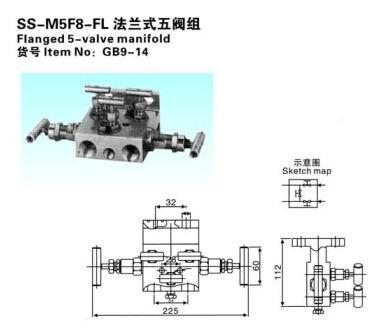 SS-M5F8-FL法兰式五阀组