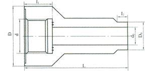双金属温度计直形管嘴
