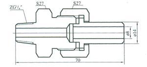 液面计蒸汽夹套接头(二)