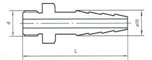 端螺纹橡胶管接头(二)