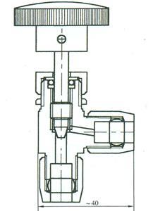 气动管路角式截止阀
