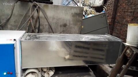 塑料造粒机整体烟雾异味处理改造视频