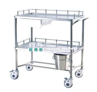 不锈钢治疗车YD-10005