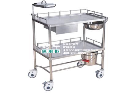 不锈钢治疗车YD-10007