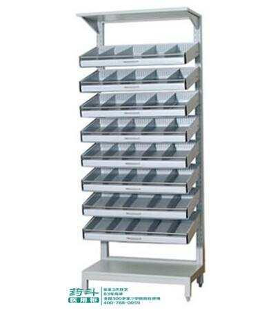 钢制单面面药品架YD-1304