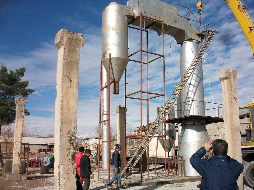 玻化微珠膨胀炉萨塔克斯坦安装现场