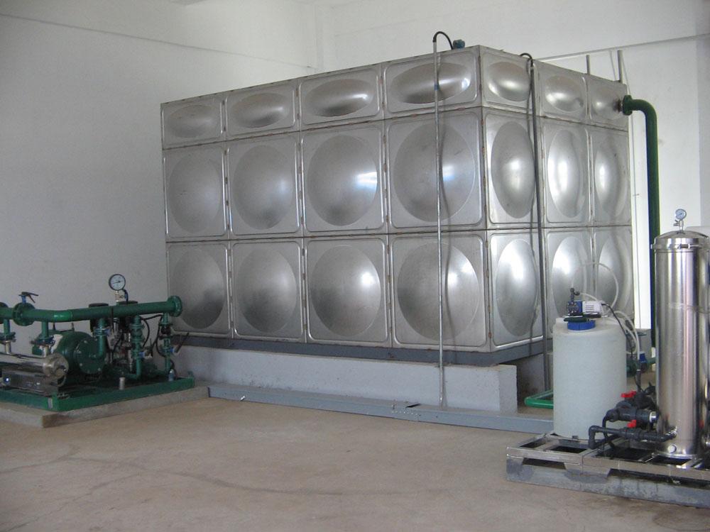 专业预制智能型箱泵一体化泵站组合式不锈钢水箱厂家 球形水箱抗震