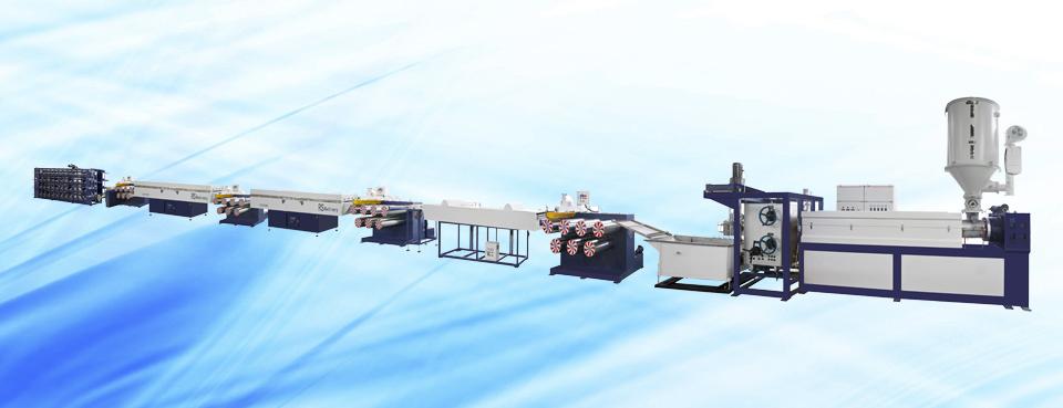 聚酯托幕线单丝机组