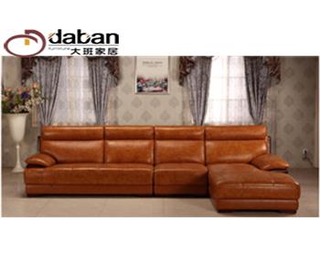 简美风格皮沙发