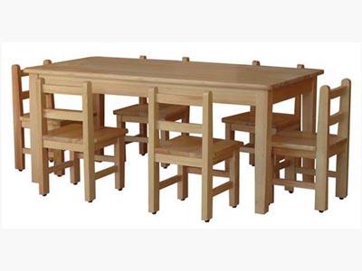 幼儿园家具实木桌椅