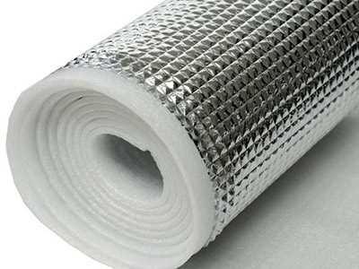 Composite aluminum film of pearl cotton