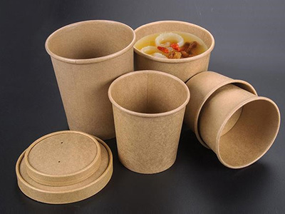 Disposable soup bowl