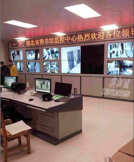 武漢圖書館監控電視牆
