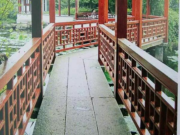 贵州防腐木栏杆安装