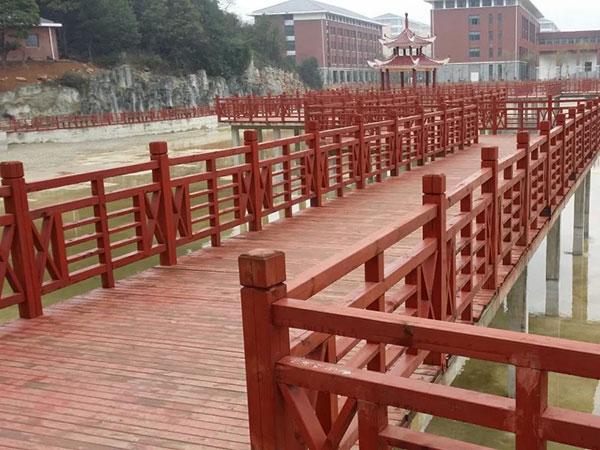 防腐木栏杆制作