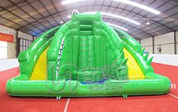 青蛙水滑梯充气城堡