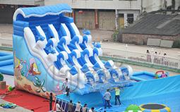水上游乐设备充气水滑梯