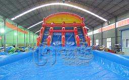 儿童彩虹水滑梯游乐设备